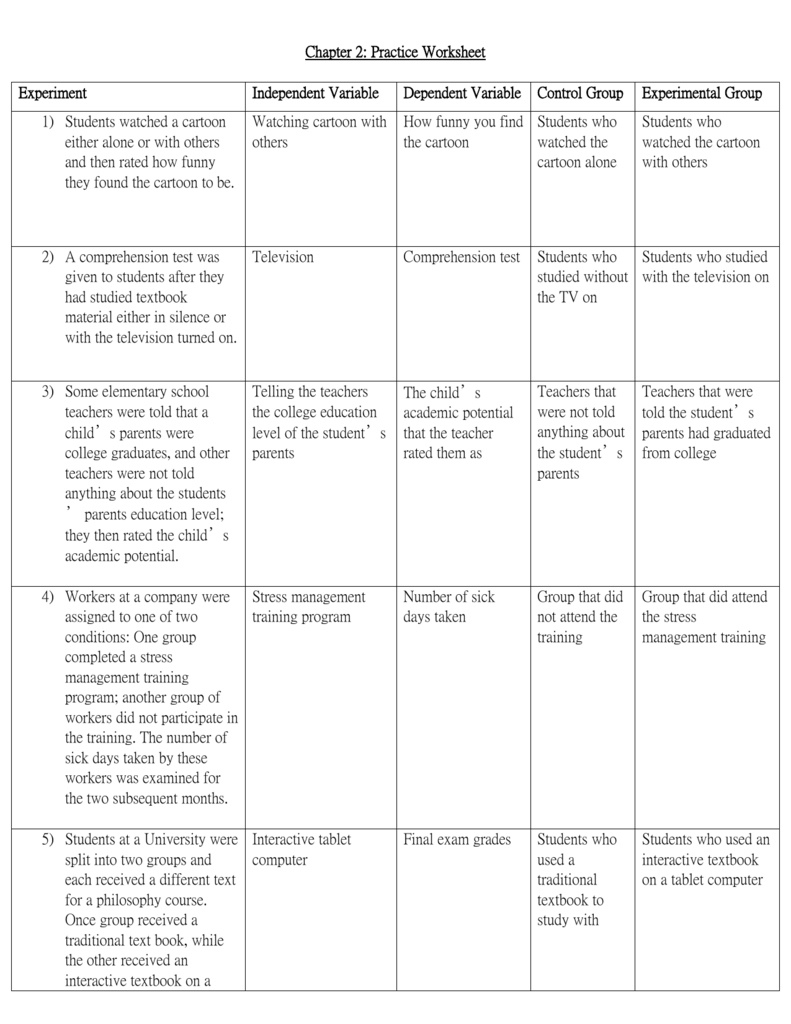 practice worksheet _1 with answers