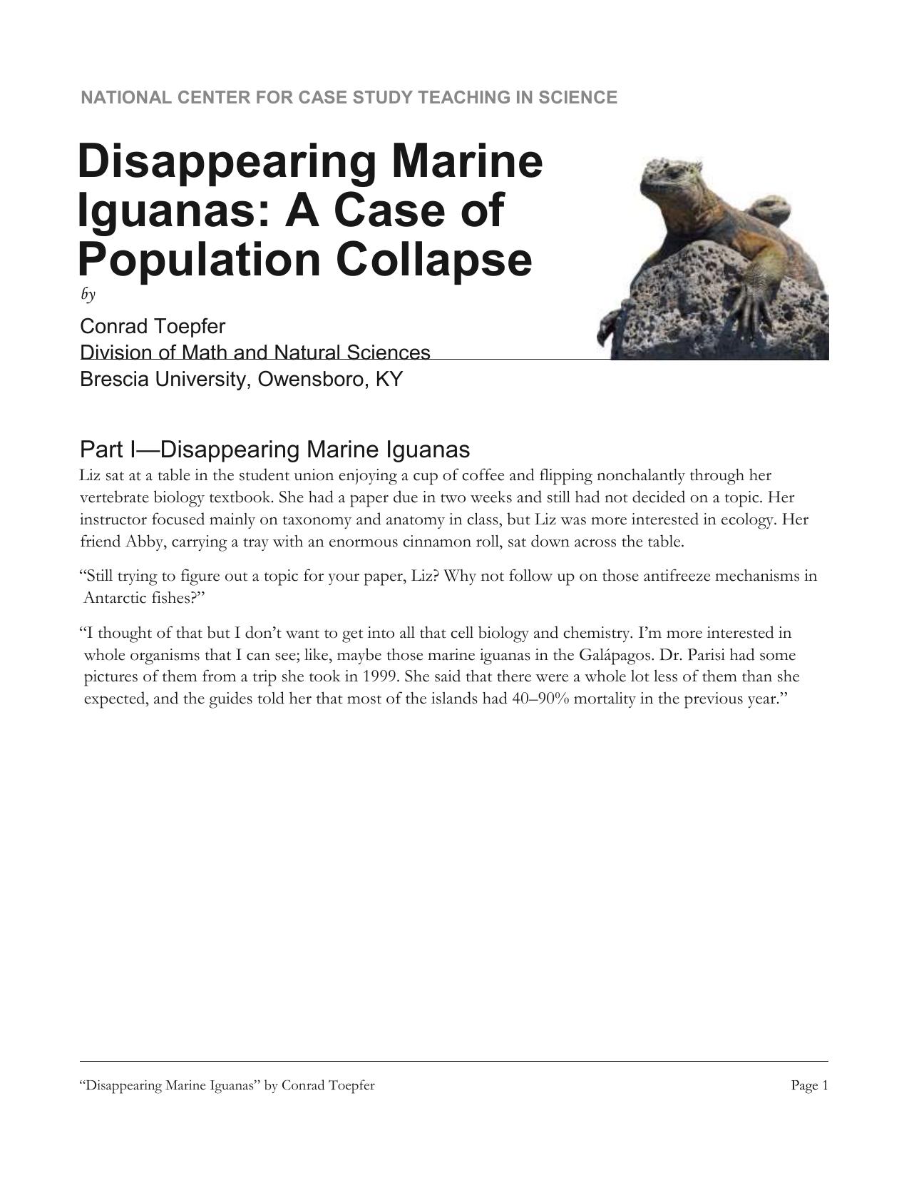 Marine Iguanas Case Study