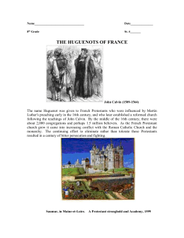 THE HUGUENOTS OF FRANCE 2