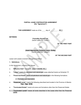 Short term lessor agreement partial lease continuation agreement platinumwayz
