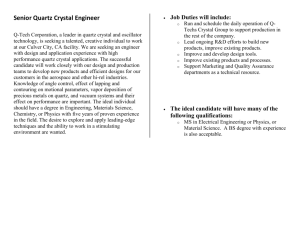Senior Quartz Crystal Engineer