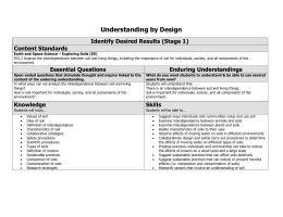 UBD STAGE 1 TEMPLATE – Science example