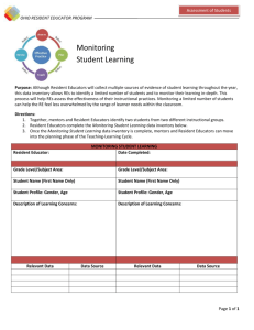 Monitoring Student Learning