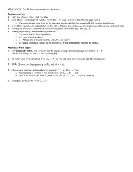 extended euclidean algorithm example