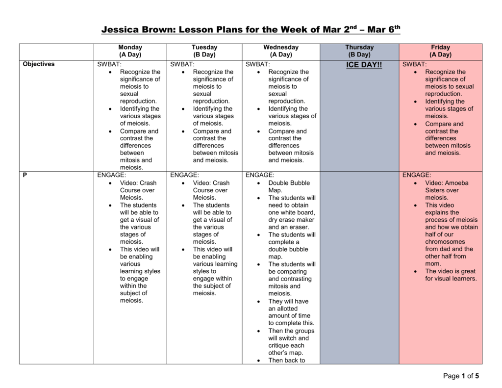 Week of March 2-March 6 - Biology with Ms. Brown Double Bubble Map Maker on