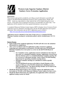 Sanitary Sewer Extension Application Form