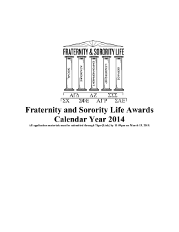 Greek Awards Packet