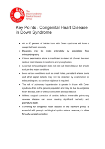 Keypoints- congenital heart disease in Down syndrome