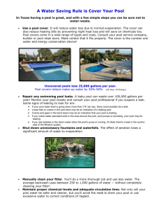 July - Pool Water Saving Tips