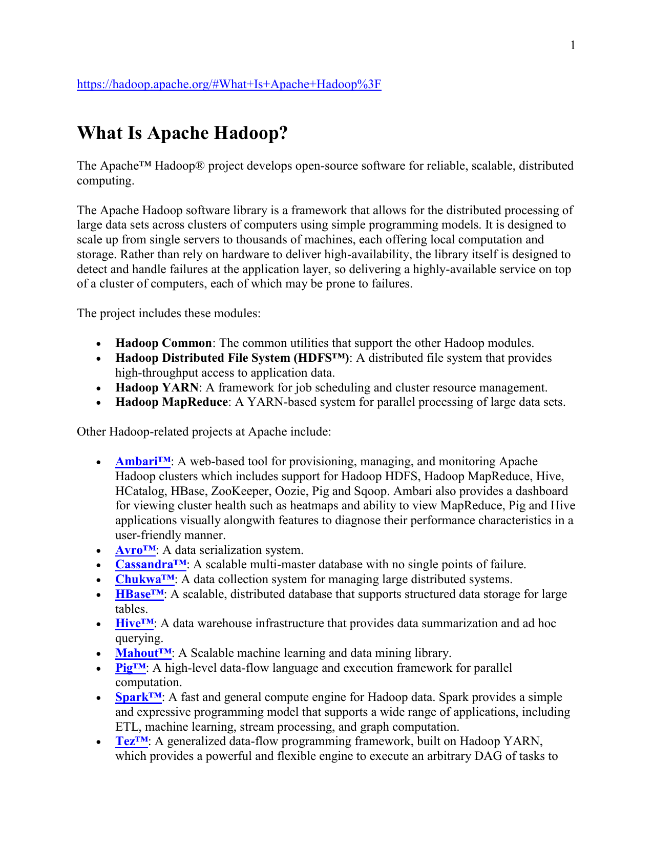 Hadoop Distributed File System, Apache HBase