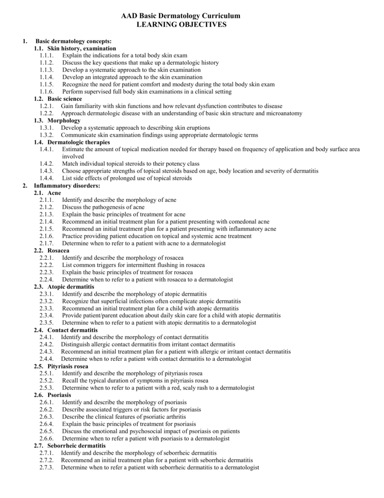 AAD MSCC Goals and Objectives