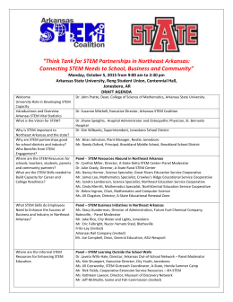 2015 Oct 5 ASU STEM Think Tank Draft Agenda