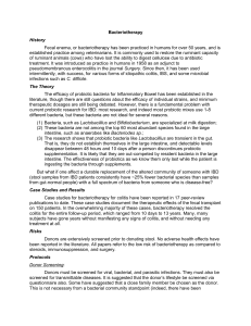 2-page briefing document - Natural Digestive Healing