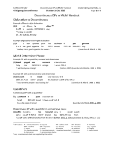 Michif discontinuous DP handout
