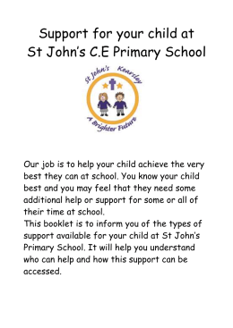 Parent leaflet - St John`s Kearsley