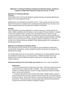 Statement on Teaching & Advising, Professional & Scholarly Activity