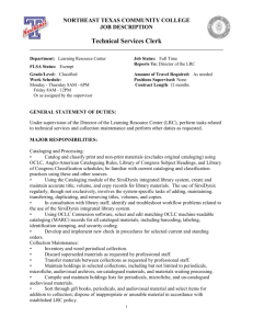 TechnicalServicesClerk - Northeast Texas Community College