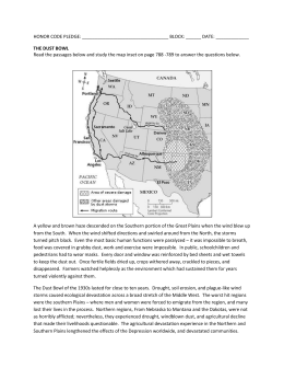 The Dust Bowl Passage and Map Interpretation - pams