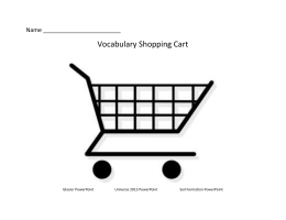 Name Vocabulary Shopping Cart Glacier PowerPoint Universe 2015