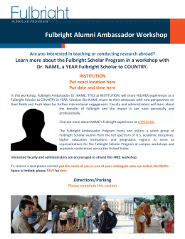 - Fulbright Scholar Program