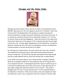 Harappa and the Indus Valley