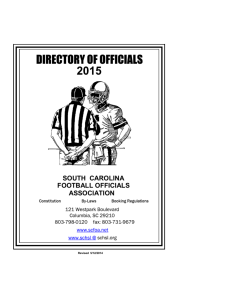 SOUTH CAROLINA FOOTBALL OFFICIALS ASSOCIATION