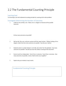2.2 The Fundamental Counting Principle