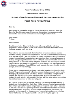Curtis Geosciences Research Income
