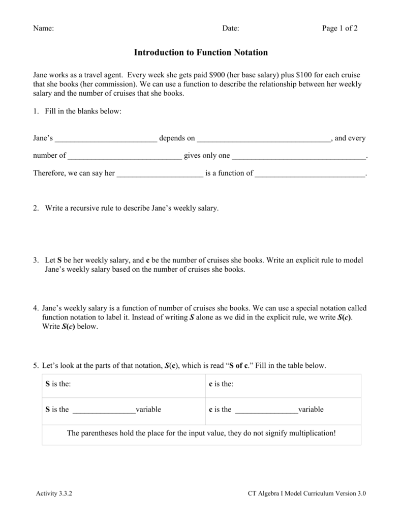 Worksheets Function Notation Worksheet activity 3 2 intro to function notation