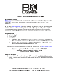 Resident Chaplain/ Campus Minister Application