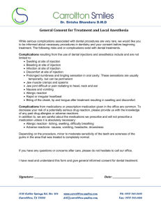 General Consent for Treatment and Local Anesthesia