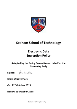 Electronic Data Encryption Policy 2015