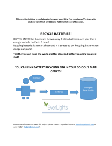 Recycle Batteries Initiative