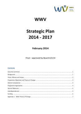 The Do-Good Strategic Plan Template for: Non Profits