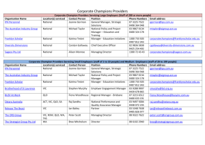 DOCX file of Corporate Champions Providers List (0.02