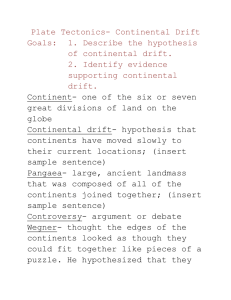 Continental Drift Note Journal