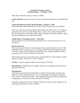 File - Catonsville Genealogy