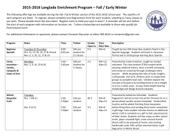 2015-2016 Langlade Enrichment Program – Fall