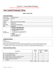 Form #3A – Course Outline Worksheet Instructions for completing