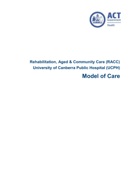 (RACC) Model of Care