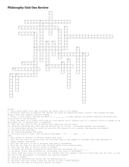 Unit One Crossword Puzzle Review