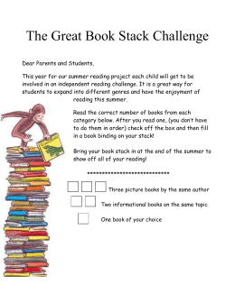 The Great Book Stack Challenge