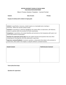 Macro Process Analysis Template – Journal