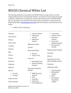 Chemical White List