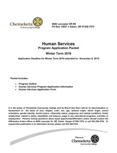 The Human Services Program - Chemeketa Community College