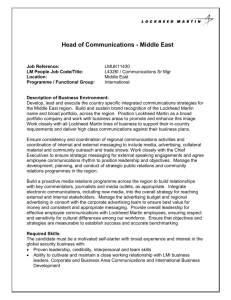 Head of Communications - Middle East