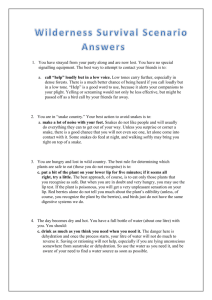 Wilderness Survival Scenario Answers