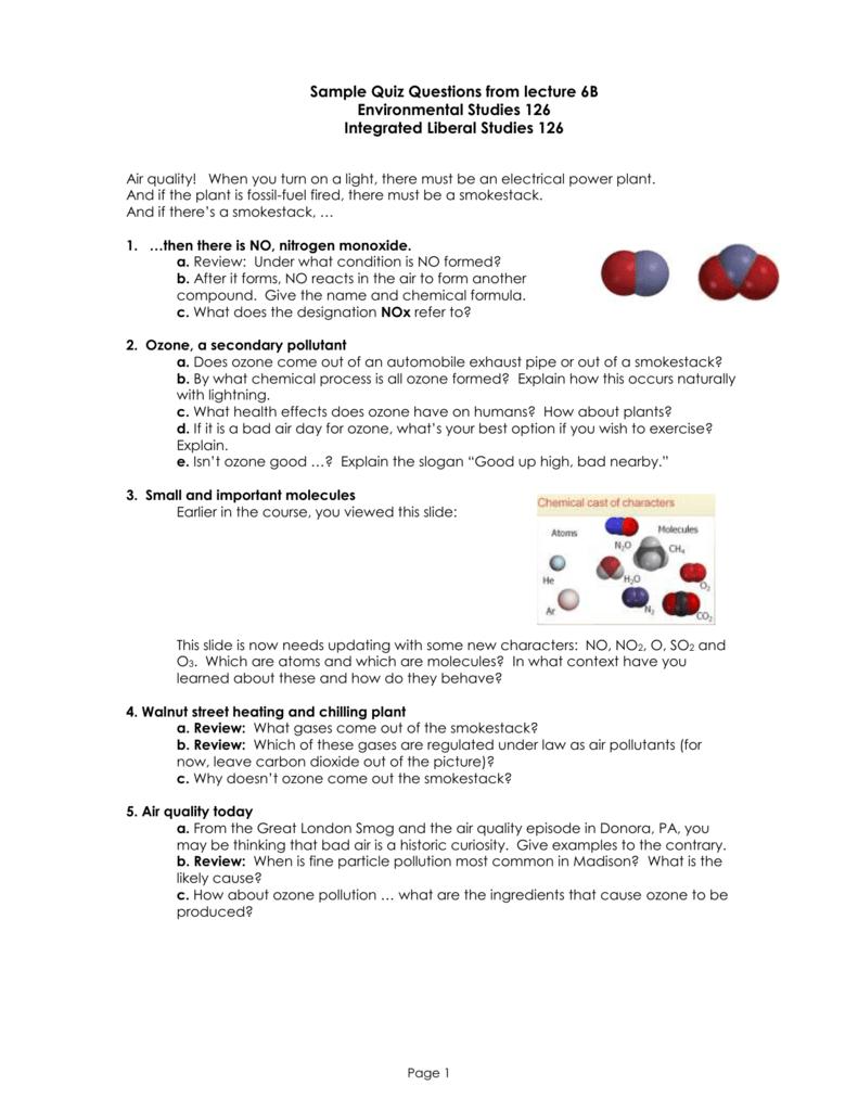 worksheet Smog City Worksheet Answers syllabus