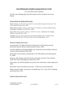 Bibliography of books on university/college history