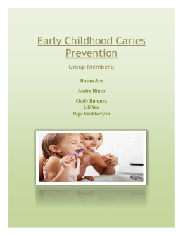 Early Childhood Caries Prevention